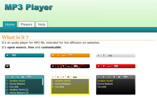 Simple and Free Flash MP3 Players for Your Website